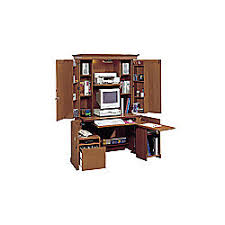 Sauder Armoire Computer Desk Sauder Monarch Computer Armoire Workcenter 71 38 H X 41 12 W X 23