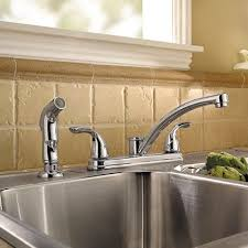 kitchen sink and faucet kitchen faucets quality brands best value the home depot