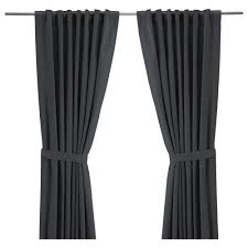 pictures of curtains ritva curtains with tie backs 1 pair 57x118 ikea