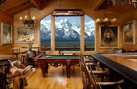 real home decoration games view of grand teton from your billiard room so amazing it looks