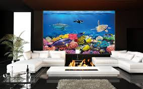 Wall Aquarium by Undersea Coral Reef Photo Wall Paper Will Turn Your Wall Into An