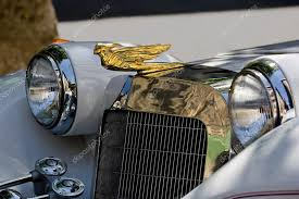 rolls royce car ornament wings stock editorial photo