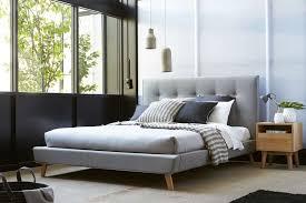 fresh grey upholstered king bed modern king beds design
