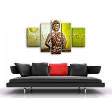 Feng Shui Painting Huge Abstract Feng Shui Painting Print Buddha Temple On Canvas
