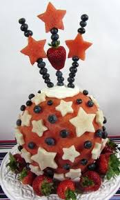 Watermelon Cake Decorating Ideas Spectacular Red White And Blue Watermelon Cake By Rose Flores