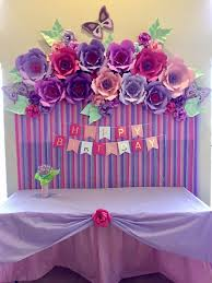 paper flowers birthday decoration for my baby pinterest