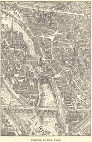 Paris France Map by Picture Map Of The Heart Of Old Paris France Student Handouts