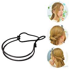 headband styler dual grip elastic twisted hairstyles headband hair clip