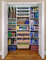 walk in corner kitchen pantry cabinet with folding wooden doors