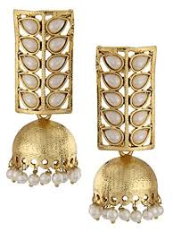 fancy jhumka earrings shining traditional jewellery gold plated stylish fancy party