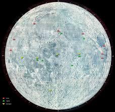 Moon Flag From Earth Apollo Landing Site Coordinates