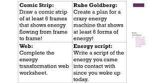 day 2 u2013 types of energy u0026 transfer of energy mr lambert