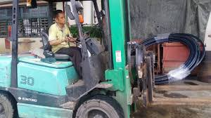 sumitomo yale forklift fd30 normal service in desa cemerlang youtube