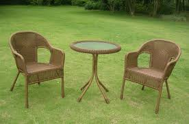 Steel Patio Furniture Sets by International Caravan Chelsea 3 Piece Wicker Resin Steel Patio