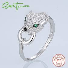 sted rings santuzza silver panther ring for women 925 sterling silver fashion
