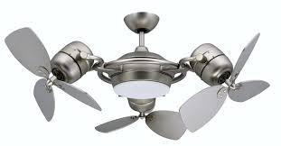 Monte Carlo Traverse Ceiling Fan Silver Ceiling Fan With Light Prepossessing 5 Blade And 6 Light