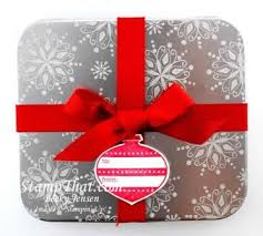 christmas gift card tins christmas gift card tin holder sted with snow swirled snowflakes