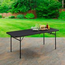 6 ft portable folding table 6 fold in half table mainstays folding foldable portable party