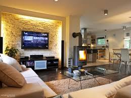 Wohnzimmer Ideen Kamin Haus Renovierung Mit Modernem Innenarchitektur Kühles Steinwand