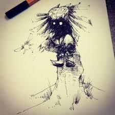 skullkid the legend of zelda majora u0027s mask ink drawing by
