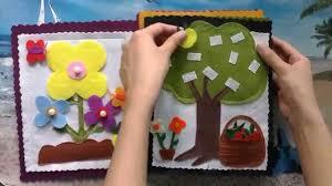 handmade diy craft quiet books gift ideas for children youtube