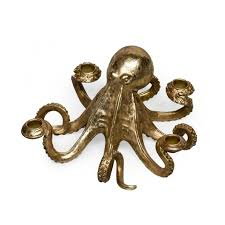 classic octopus ring holder images Octopus candlestick candle holder gold hurn and hurn jpg