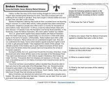 rocky relationships reading comprehension worksheets