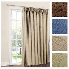 Patio Door Curtains Gabrielle Pinch Pleat Thermal Room Darkening Patio Panel Curtain