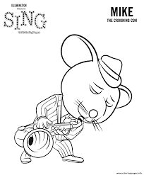 sing movie coloring pages mouse mike coloring pages printable