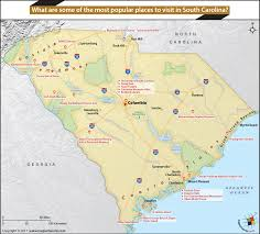 Map Of Carolinas South Carolina Offers Any Visitor From Beaches To Historic