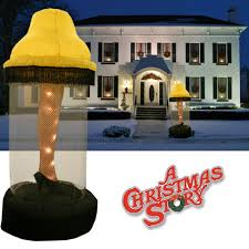 6 foot tall inflatable leg lamp from a christmas story the green