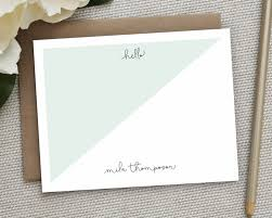 personalized stationery sets personalized stationery personalized notecard set