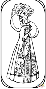 from russian fairy tale coloring page free printable