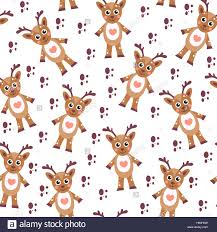 reindeer seamless texture children s background