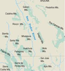 Mesa Arizona Map by San Pedro River Ecology