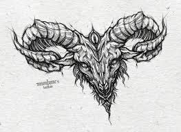 goat tattoo design chest piece by munlyne on deviantart