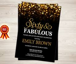 60th Birthday Invitation Card Surprise 60th Birthday Invitation For Women Sixty And