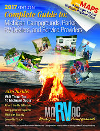 Michigan Campgrounds Map by Directory Marvac