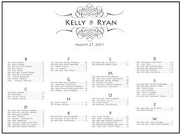 Wedding Program Templates Free Online Free Wedding Seating Chart Templates
