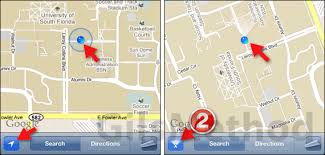 find maps how to find yourself using maps determine heading on the iphone