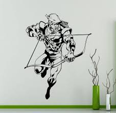 green arrow wall decal superhero dc marvel comics vinyl zoom