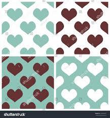 seamless vector background set hearts full stock vector 179857070