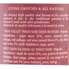 napa valley ground mustard edmond fallot napa valley pinot noir dijon mustard 7 4 oz 210 g