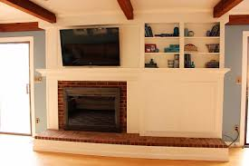 cool how to cover brick fireplace with wood excellent home design