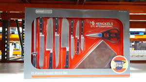 j a henckels 10 piece forged cutlery block set of knives costco