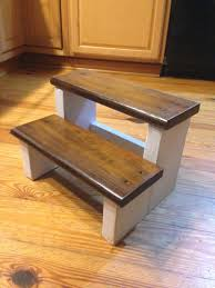 home decor rustic wood farm house step stool kids step stool