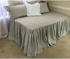 natural linen day bed cover handcrafted by superior custom linens