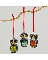 sweet deal on imax wise owls ceramic ornaments set of 3 wise
