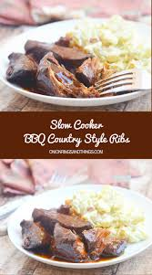 slow cooker bbq country style ribs onion rings u0026 things
