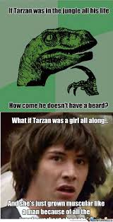 Raptor Memes - rmx tarzan and raptor by thekittywhoisemo meme center